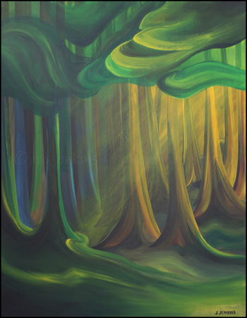 emily's forest - 28 x 36 inches