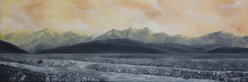 toklat river   12 x 36 inches