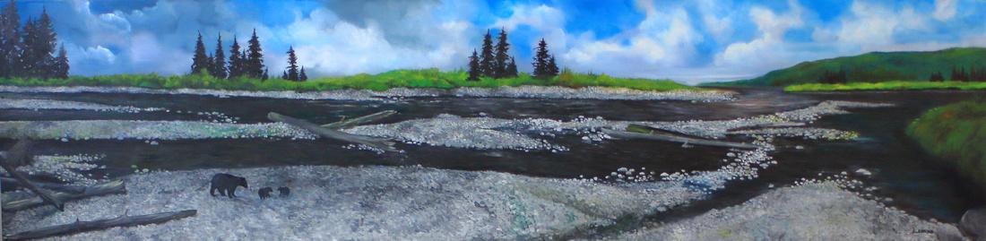 chemainus estuary    18 x 72 inches