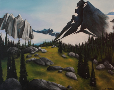 bugaboo provincial park  30x40  inches