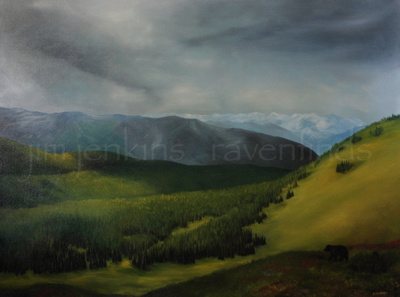 manning park - oil  36 x 48 inches