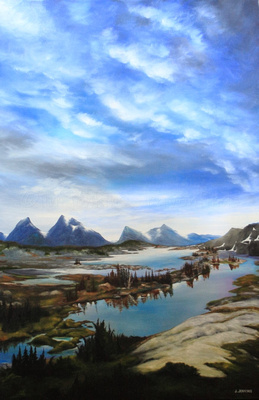 height of the rockies Provincial Park   31.5 x 47 inches