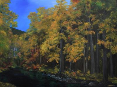 atnarko river - 36 x 48 inches