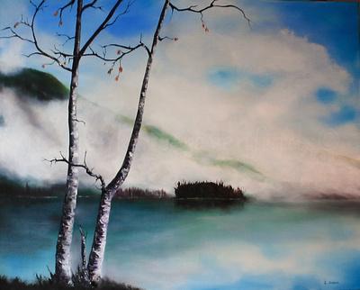 cowichan lake  24x30 inches