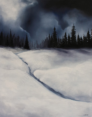 winter on san juan ridge 24 x 30 inches