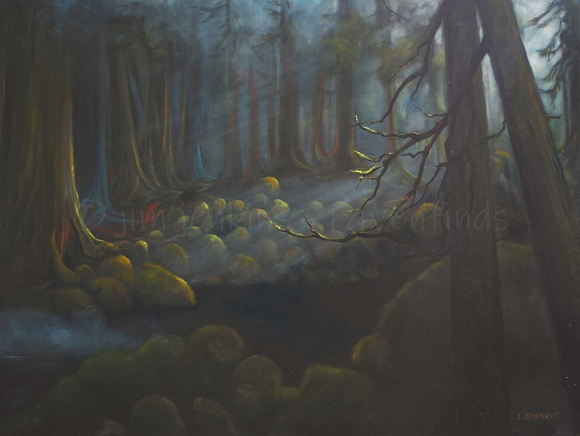 mckay creek  - 30 x 40 inches