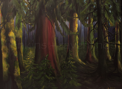 cowichan river trail  - 30 x 40 inches